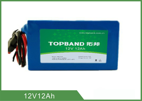 100% DOD 12V 12Ah Lithium Deep Cycle Battery For Solar Power