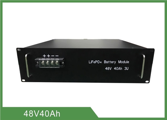 Lithium Iron Phosphate Telecom Battery 48V 40Ah 3U Rack With RS 485 Communication