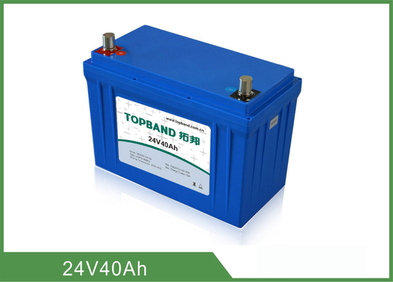 China Material LiFePO4 Nano do backup de bateria do equipamento médico da segurança 24V 40Ah fábrica